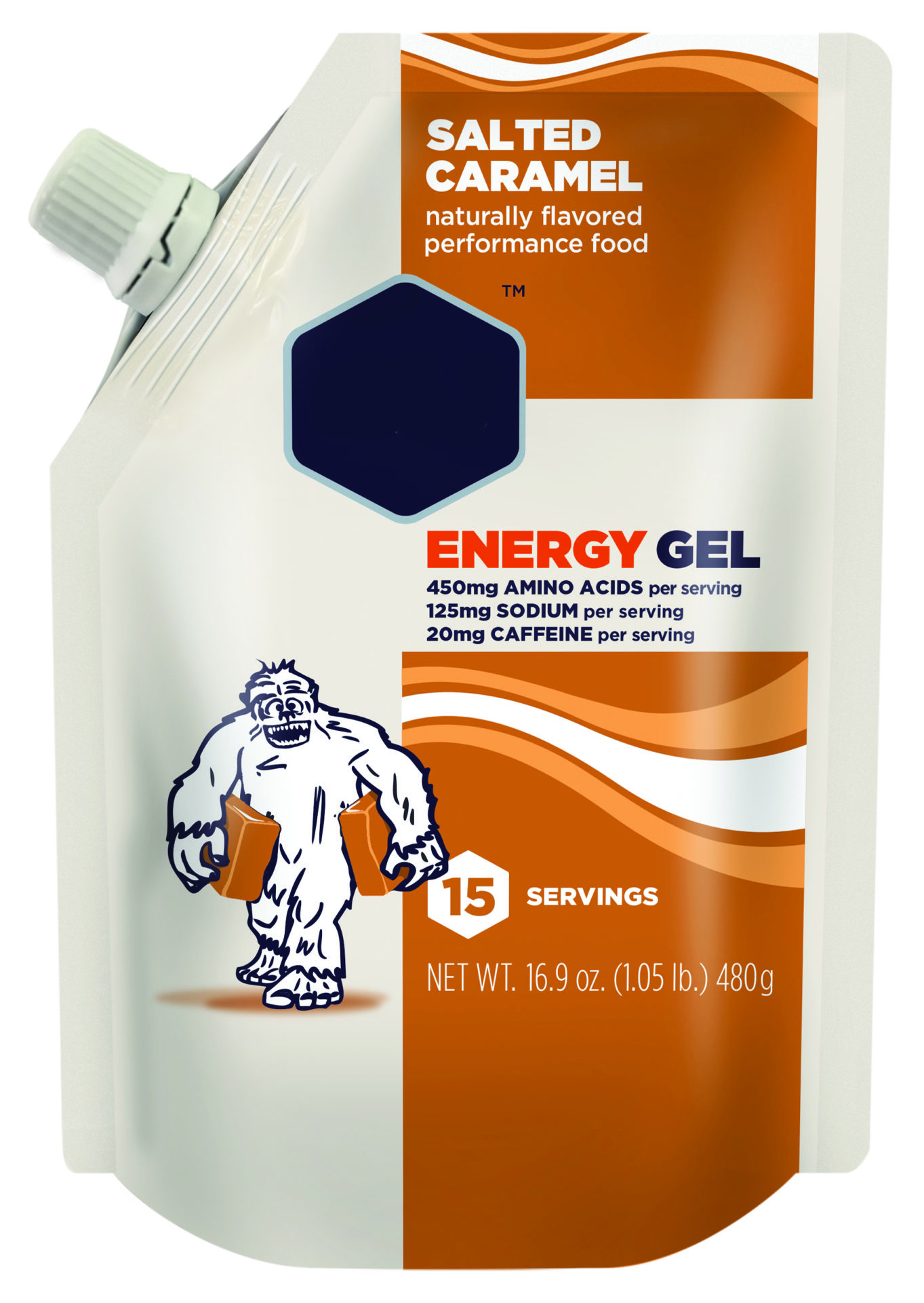 energy gel stand up pouch