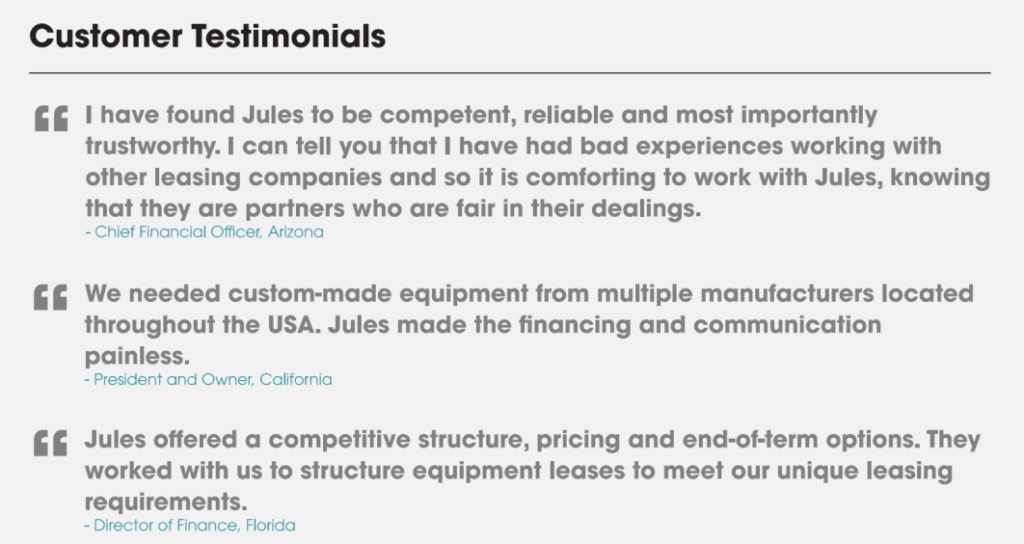 jules_and_associates_customer_testimonials